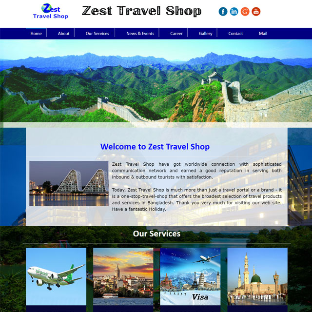 Tours and Travel Company Website